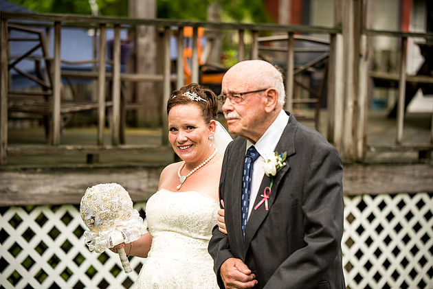 Bride and Grandfather clients of Cleveland Wedding Planner