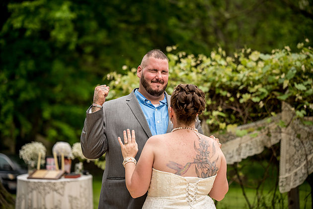 Bride and Groom dancing clients of Cleveland Wedding Planner