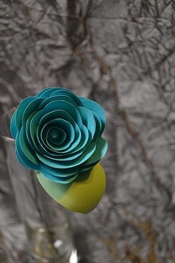 Rolled paper rose created by Eventistry