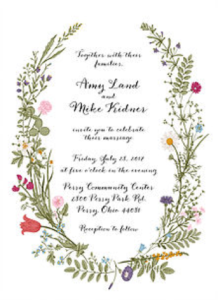 Wedding Invitation for clients of Cleveland Wedding Planner