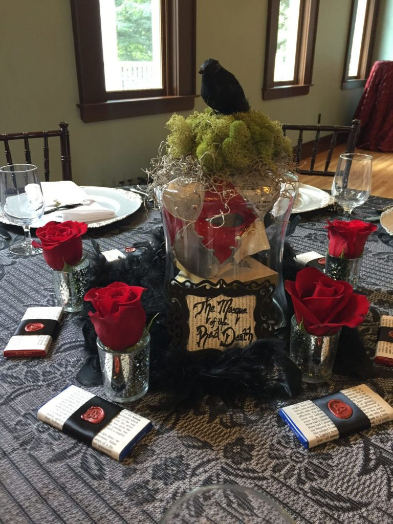 Wedding centerpiece created by cleveland wedding planner