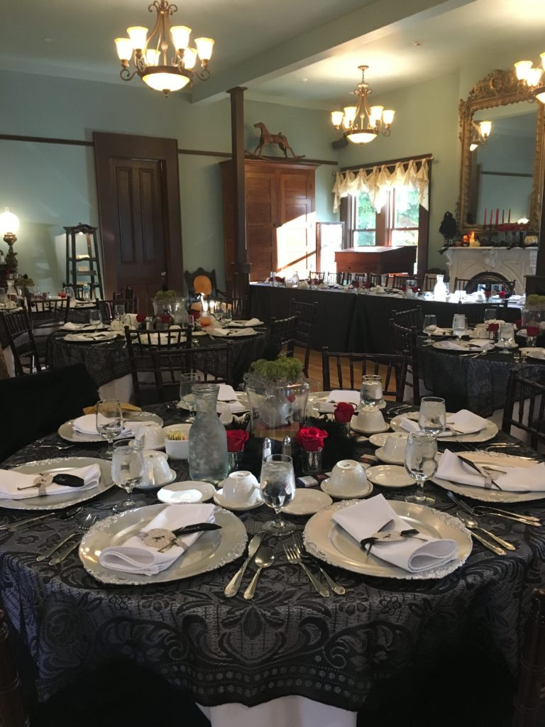 Guest tables at wedding reception