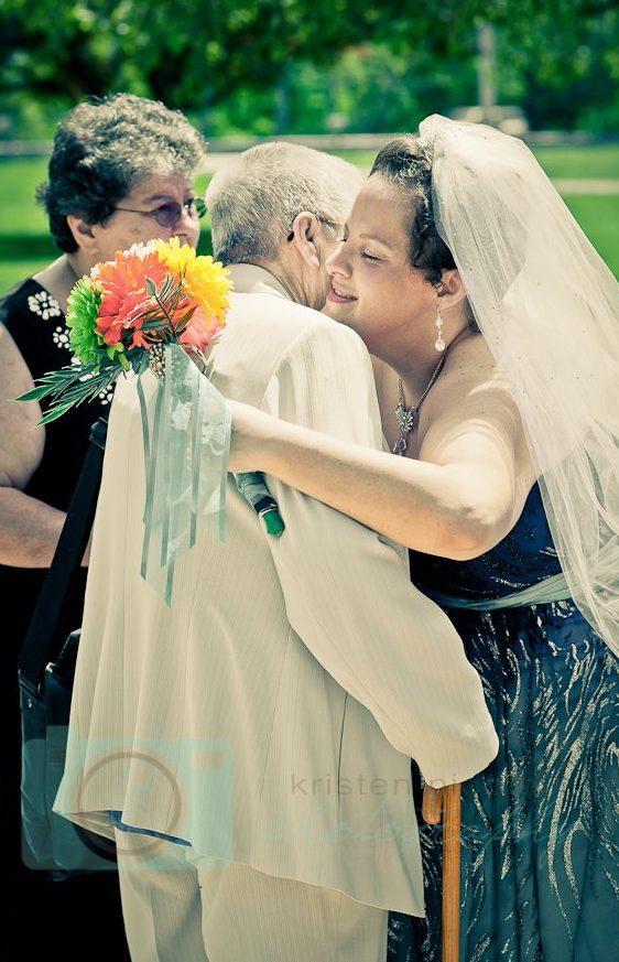 bride and grandma hugging eventistry