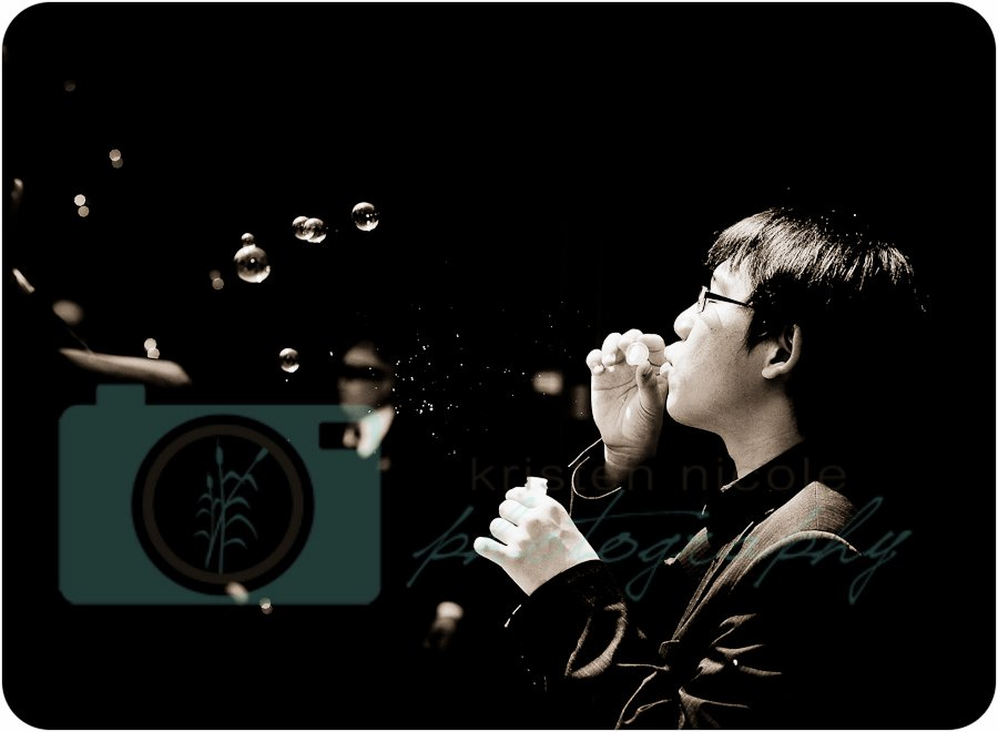 man blowing bubbles cleveland wedding planner