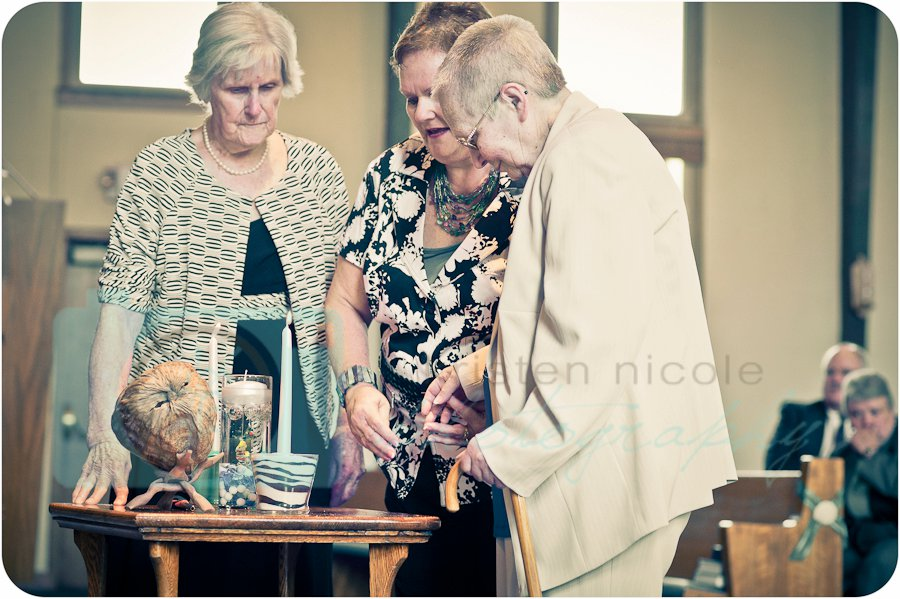 Grandmother's Lighting the Unity Candles