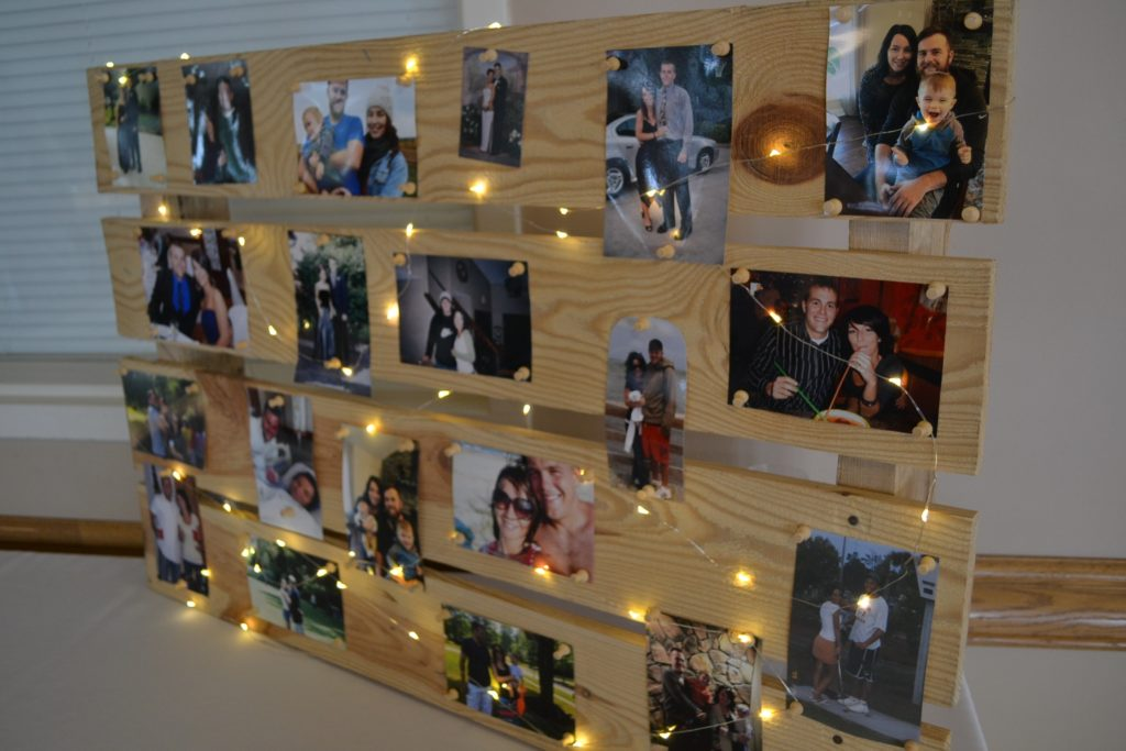 Display of photos of couple