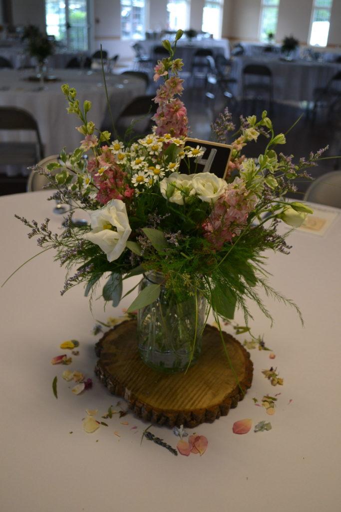 Wildflower Centerpices Cleveland Wedding Planner
