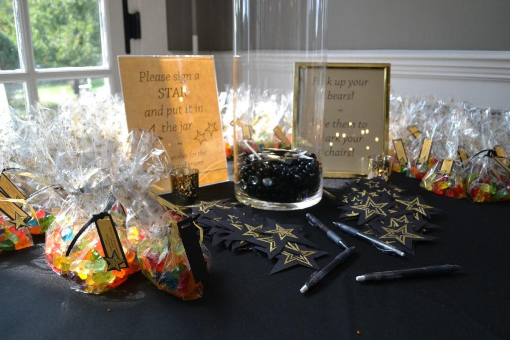 gummy bear favors and the guest book