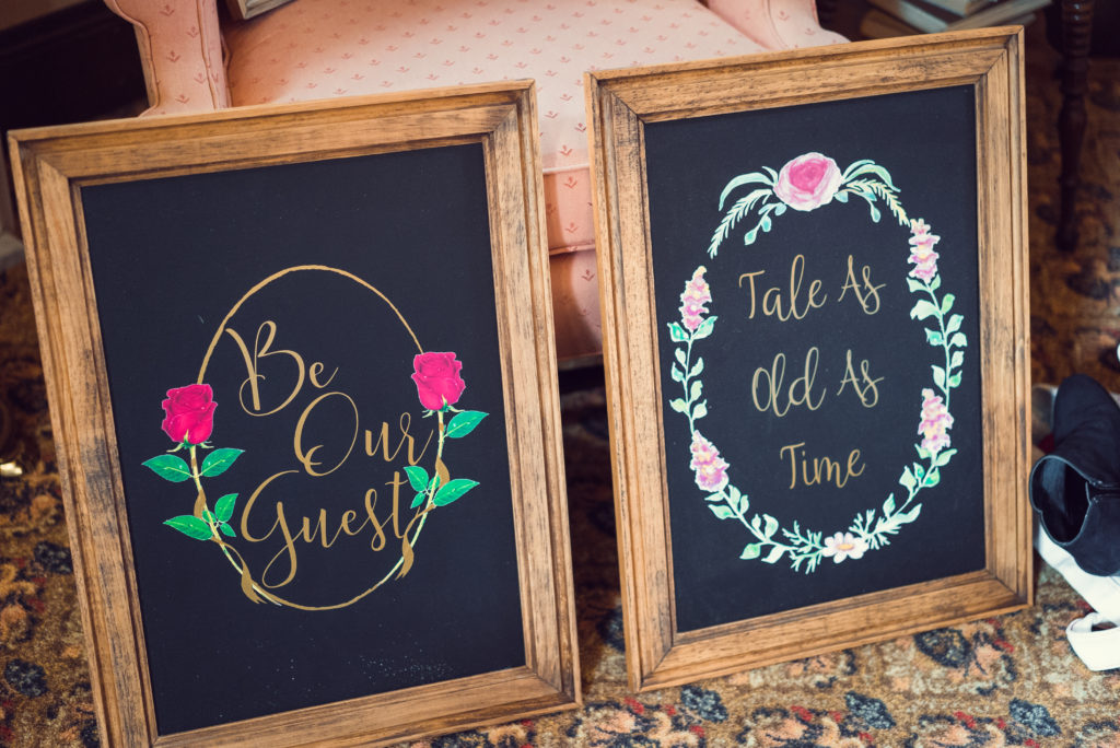 Signs at wedding