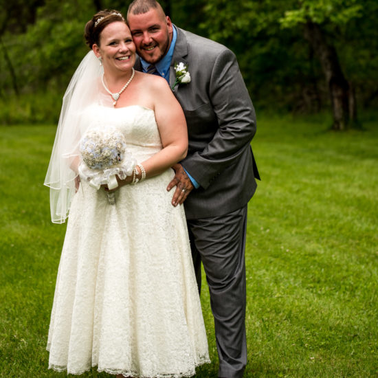 Bride and Grrom together clients of Cleveland Wedding Planner