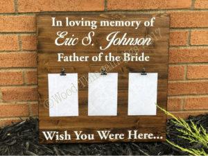 wedding memorial board