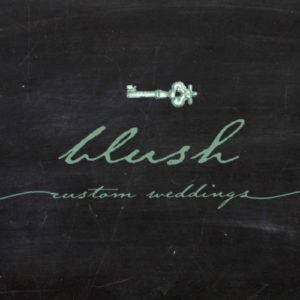 blush custom wedding logo
