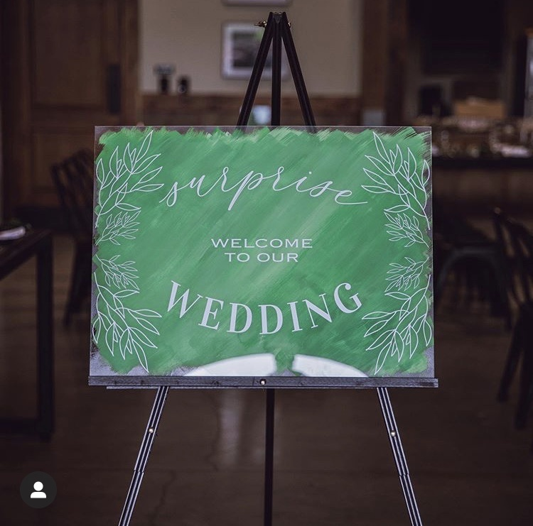 Cleveland wedding planner welcome sign