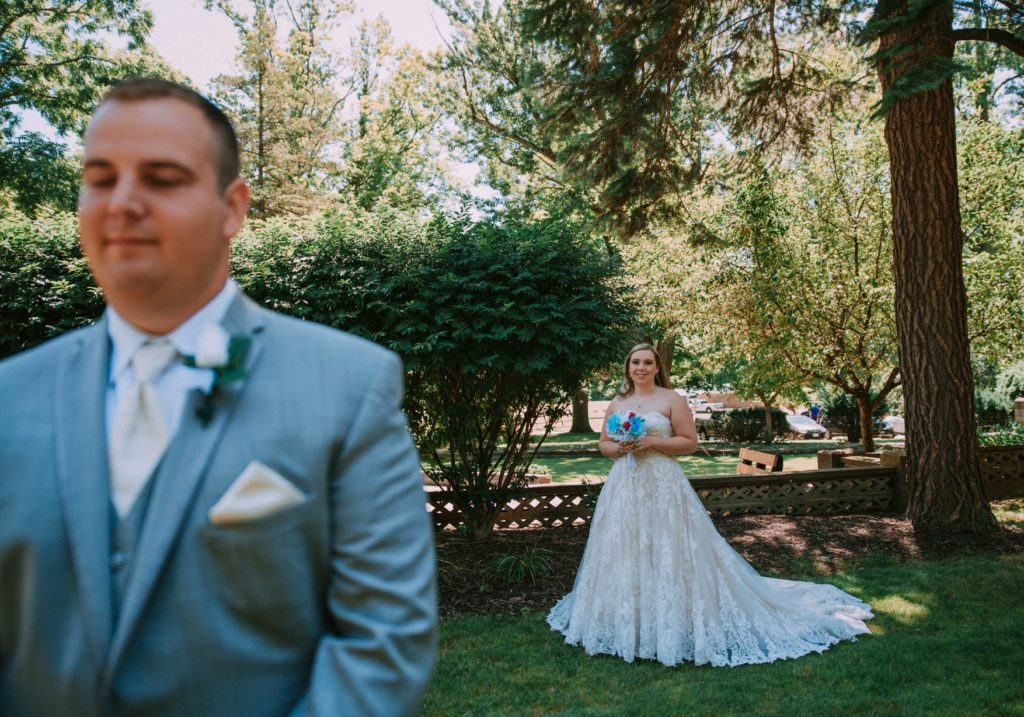 Cleveland wedding planner bride and groom