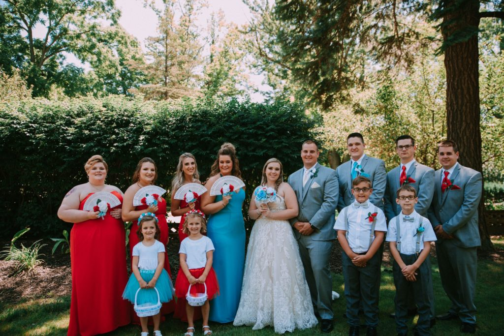 Cleveland wedding planner bridal party