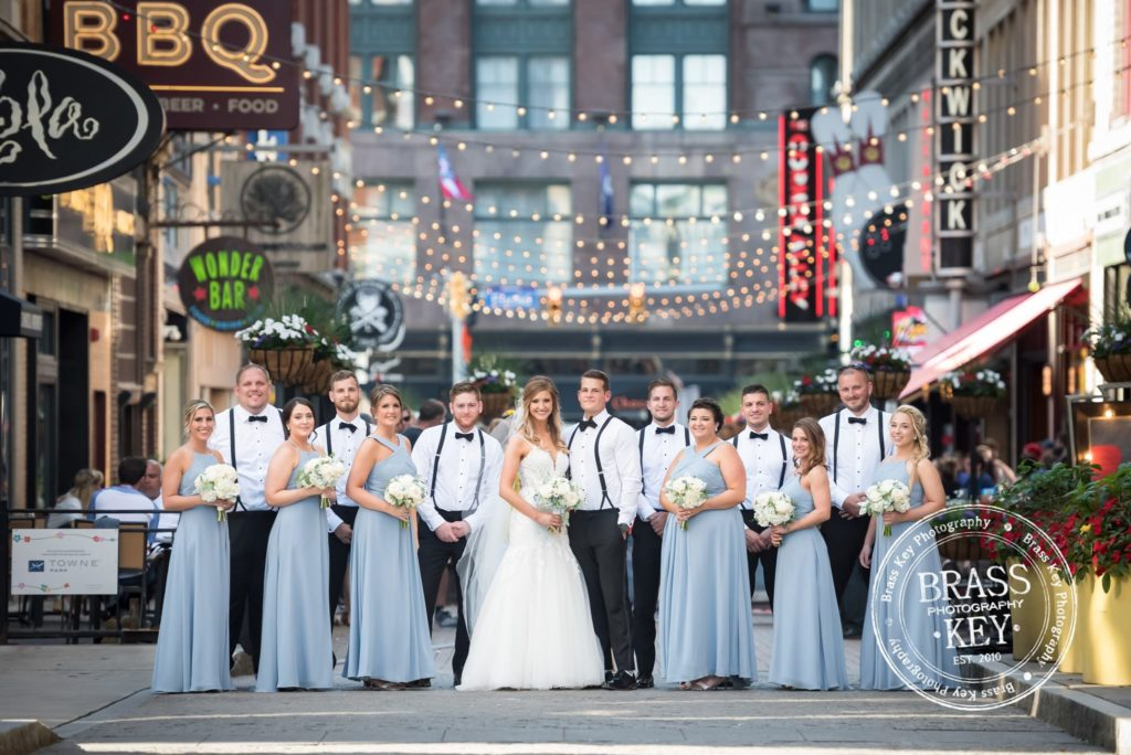 Cleveland wedding planner wedding party