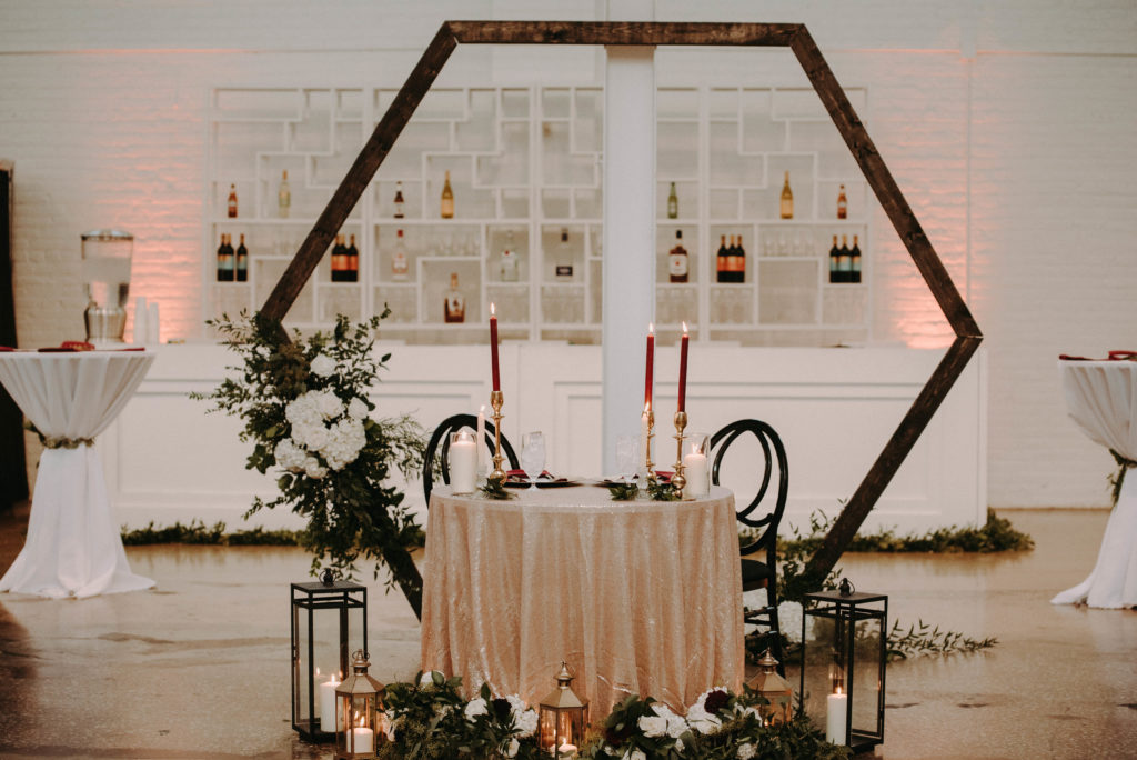 sweetheart table cleveland wedding planner
