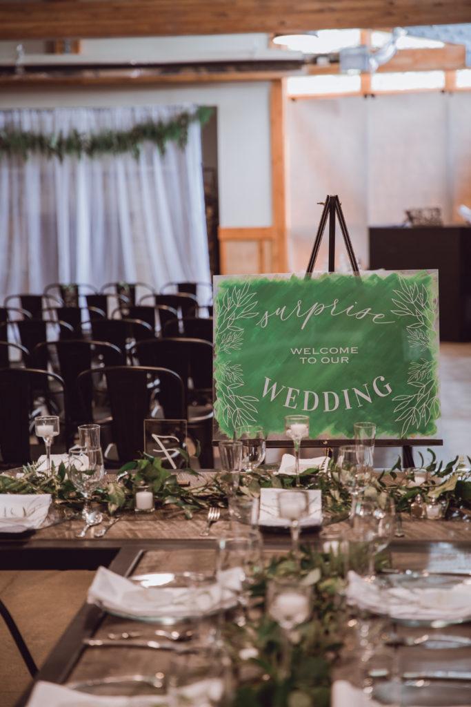 Cleveland wedding planner wedding sign