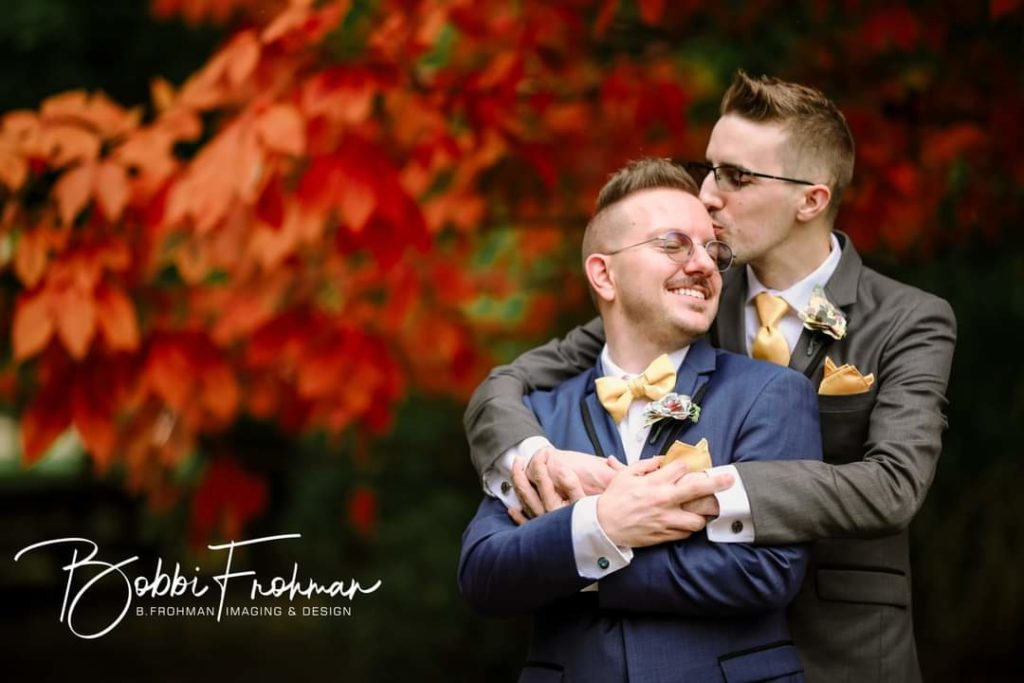 two grooms wedding planning